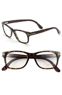 Free shipping and returns on Tom Ford 52mm Eyeglasses at Nordstrom.com. Metal T insets graze the hinges of studious Italian frames.