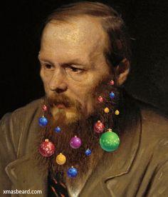 You can do better than Dostoevsky with http://xmasbeard.com  #XmasBeard #Beard  #MerryChristmas #Funny