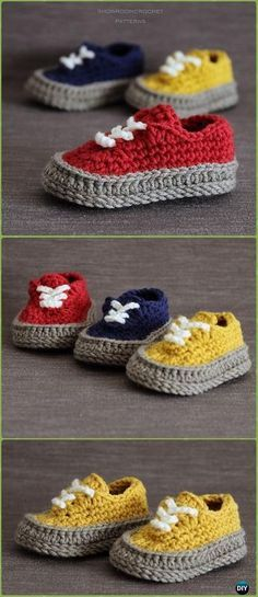 Crochet Classic Baby Sneakers Paid Pattern - Crochet Sneaker Slippers Patterns