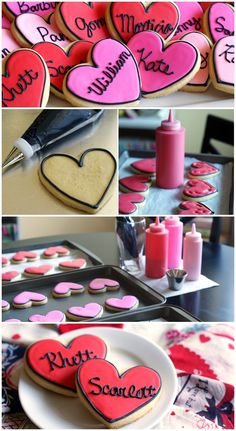 true love cookies featuring famous lovebird couples. perfect, easy to make, valentine cookies