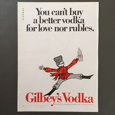 GILBEY'S VODKA AD 1968-Uniroyal Tire Ad-Vintage Alcohol Ad-Retro Tire Ad-Man Cave-Old Advertisement-Decoupage Material-Paper Crafts-Retro Ad by DeadPaperSociety on Etsy