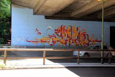 calligraphic mural, Tehran by تنها Karan Reshad, Iranian visual artist; graffiti and street art pioneer in Iran Best Street Art, Street Art Graffiti, Calligraphy Art, Neon Signs, Explore, Abstract, Artist, Artwork, Tehran
