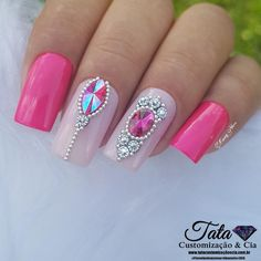 French manicure designs bling rhinestones new ideas French Manicure Acrylic Nails, French Manicure Designs, French Nails, Nail Manicure, Nail Art Designs, Glam Nails, Bling Nails, Toe Nails, Nail Art Strass