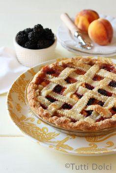 Blackberry-Peach Pie   Tutti Dolci