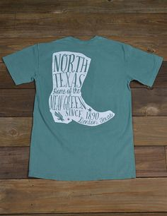 Boot scootin' boogie in this awesome new Univeristy of North Texas short-sleeve Comfort Color t-shirt! You know you wanna look super cute in this tee! Go Mean Green!