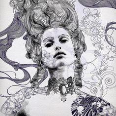 Illustrations, Illustration Art, Expressive Art, A Level Art, High Art, Creative Portraits, Life Drawing, Art Plastique, Portrait Art