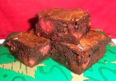 Raspberry chocolate brownie - one bowl/saucepan recipe! Thanks Cindy2Paw