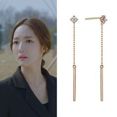 Gold Plated Earrings, Stud Earrings, Garnet Gem, Rose Gold Jewelry, Ear Studs, White Topaz, Rose Gold Plates, Kdrama, Arrow Necklace
