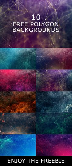 10 Free #Polygon #Backgrounds #Chaotically connected points and polygons flying in space. Flying debris. Futuristic technology style. Download & Enjoy! via @creativetacos