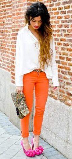 Cute outfit! great website to show how to do color block outfits!