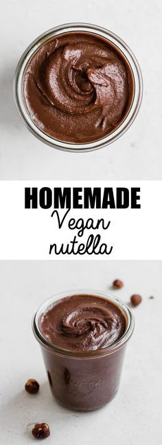 This homemade vegan nutella is a healthy recipe that is so easy to make. It's dairy-free, gluten-free, paleo, and refined-sugar free!