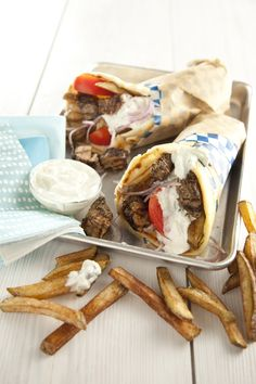 Pork Belly Gyros  By Libbie Summers - An exerpt from The Whole Hog Cookbook