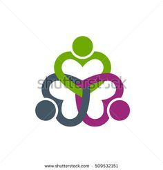 People Hearted Care. Vector Illustration