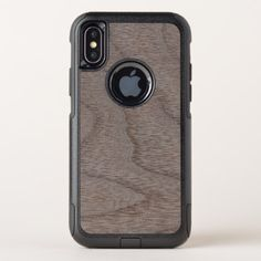 White Walnut Wood Grain Look OtterBox Commuter iPhone X Case - wood gifts ideas diy cyo natural