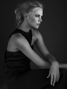 Charlize Theron. Look at her angles! Carved so elegantly!