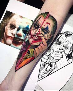 33 Cool Joker Tattoos That You Will Love - Millions Grace Anime Tattoos, Leg Tattoos, Body Art Tattoos, Tattoos For Guys, Sleeve Tattoos, Cool Tattoos, Joker Tattoos, Tatoos, Amazing Tattoos