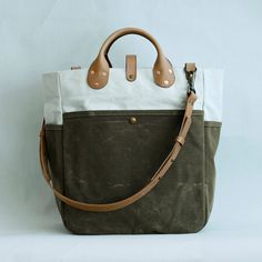 Garrison Bag Natural/Olive by wintersession on Etsy, $265.00