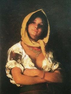 Country girl by Nicolae Grigorescu, century Romanian painter. Old Egypt, Gypsy Fashion, Gypsy Life, Painting Of Girl, Moldova, Art Themes, Gypsy Style, Country Girls, Crow