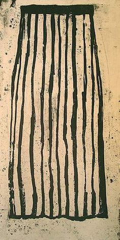 Ritsuko Ozeki  Long Skirt, 2005  Print lift ground etching with aquatint   39 x 19.5 inches