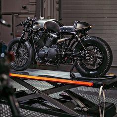 Battle Of The Kings Sportster Iron 883 by Harley-Davidson Namur. Sportster Cafe Racer, Inazuma Cafe Racer, Sportster Iron, Moto Cafe, Cafe Bike, Cafe Racer Bikes, Cafe Racer Motorcycle, Motorcycle Design, Cafe Racers