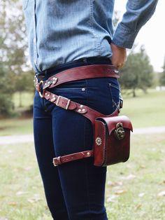 Steampunk Hip Holster Bag Leather Adjustable by HydeAndSheik on Etsy https://www.etsy.com/listing/202425515/steampunk-hip-holster-bag-leather