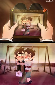 """-My little brother, I miss you so much."" Oh, Stan ;_;"