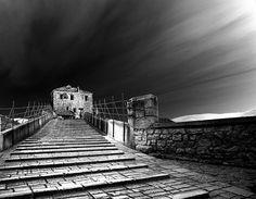 Mostar, Bosnia and Hercegovina, Old Birdhe, Stari Most, BlackandWhite
