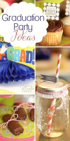 These are some great Quick, easy and cute graduation party ideas. Just the thing to easily pull off graduation with special touches that don't require a lot of time or money.
