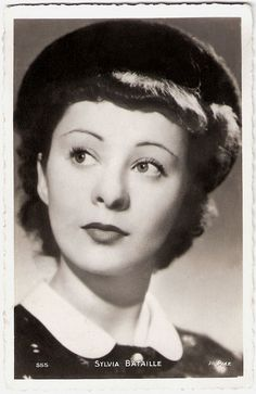 """""""Sylvia Bataille (1908-1993) was a French stage and screen actress, best remembered for her part in Jean Renoir's Une partie de campagne/A Day in the Country (1936)."""" #vintage #1930s #actress #French #movies #hat"""