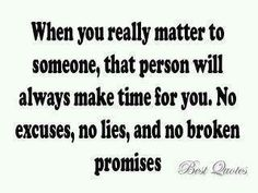 When you really matter to someone...