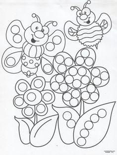 Q-Tip painting sheets Painting Sheets, Q Tip Painting, Painting For Kids, Art For Kids, Coloring Pages For Kids, Coloring Sheets, Painting Activities, Alphabet Activities, Do A Dot