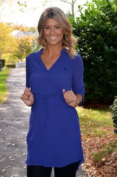 Simple Silhouette tunic, blue – Chapter 2 Boutique