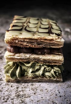 Matcha Chocolate Mille Fiulle