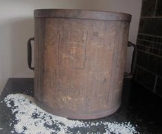 Ittomasu/Old Japanese Rice Measure/Wooden Bucket by Folkaltered, $140.00