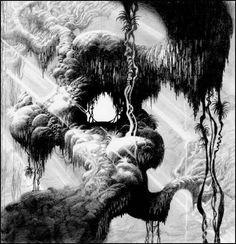 Original concept art by Paul Felix for Disney's Tarzan: Dark Roasted Blend: DRB Feel-Good Issue #32
