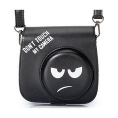 [Fujifilm Instax Mini Camera Case]—Woodmin Groovy PU Leather Fuji Instant Camera Case with Shoulder Strap (Black) Instax Mini Case, Polaroid Instax Mini, Fujifilm Instax Mini 8, Polaroid Camera Case, Photo Bag, Camera Accessories, Ukulele, Nikon, Macbook Pro