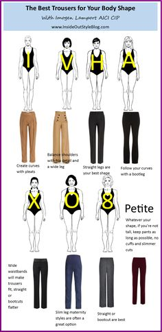 These are the absolute best pants for the different body shapes.