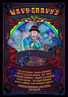 Wavy Gravy's 75th Birthday - A benefit for Seva Foundation at the Beacon Theater, New York City featuring Ani Difranco, Bruce Hornsby, Buffy Sainte-Marie, Dr. John, Jackson Browne, Jorma Kaukonen, Steve Earle, Steve Kimock, and more! www.seva.org