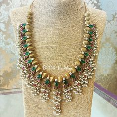 With cab Stones and fresh water Pearls. INBOX FOR COST Pearl Jewelry, Wedding Jewelry, Gold Jewelry, Beaded Jewelry, Beaded Necklace, Necklaces, Indian Necklace, Onyx Necklace, India Jewelry