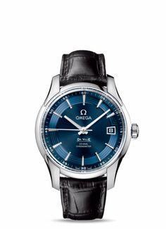 OMEGA / De Ville Hour Vision - Stahl mit Lederarmband - 431.33.41.21.03.001