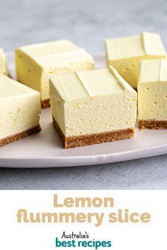 Lemon Desserts, Sweet Desserts, No Bake Desserts, Easy Desserts, Sweet Recipes, Cake Recipes, Dessert Recipes, Aero Cheesecake, Passionfruit Slice