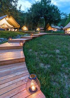 Glamping resort Chateau Ramšak invites you to a hidden gem in one of the most beautiful and untainted parts of Slovenia. Luxury Glamping, Camping Glamping, Camping Tips, Wall Tent, Natural Pond, Bungalow, Landscape Design, Outdoor Living, Tent Trailers