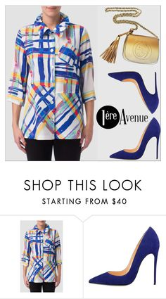 """""""Joseph Ribkoff top"""" by deeyanago ❤ liked on Polyvore featuring Gucci, classy, StreetSyle, premiereavenue and JosephRibkoff"""