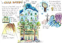 Diario de viajes BCN - Ilustraciones de Joaquín González Dorao