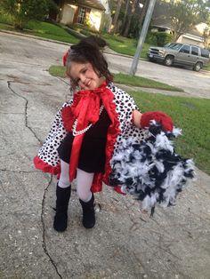 Cruella Deville kids Halloween costume  sc 1 st  Pinterest & Coolest 101 Dalmatians and Cruella De Vil Homemade Costumes ...