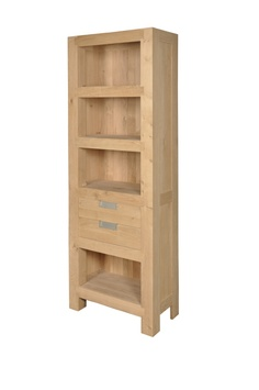 eiken houten boekenkast milford boekenkasten