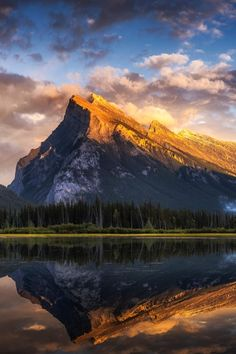 Mirror Image, Mountain View, Nature Photos, Mount Rainier, The Great Outdoors, Cool Pictures, Scenery, Clouds, Mountains