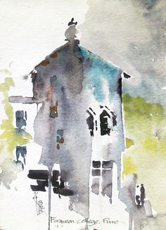 Urban Sketchers: watercolour sketches after a gap..