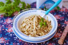 Vegan Lemon Olives Fettucchini | vegelicacy.com