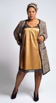 Une jolie robe de la collection Big Beauty pour Taillissime (jusqu'en taille 58)